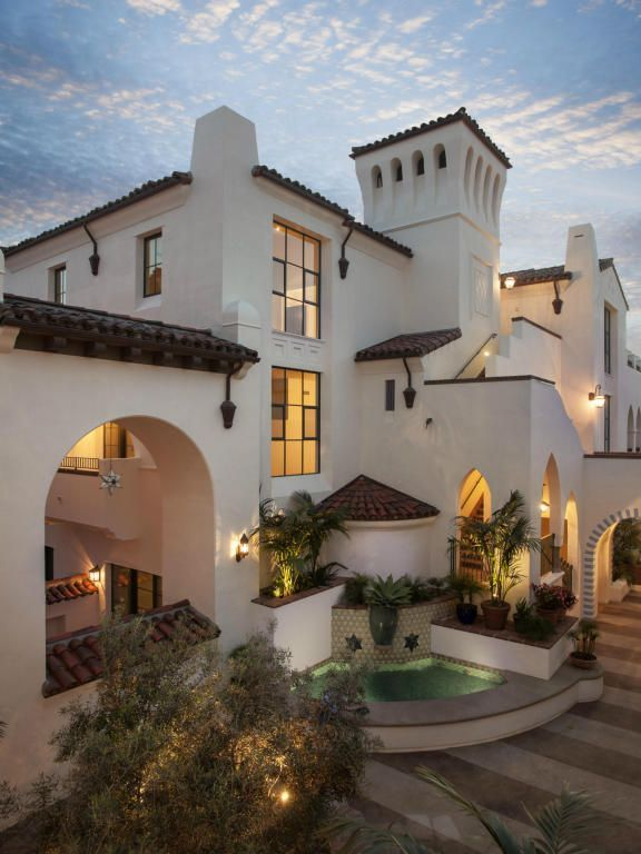 Spanish style home santa barbara house design plans for Santa barbara style house