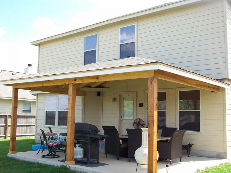 How To Build A Back Porch Slanted Roof
