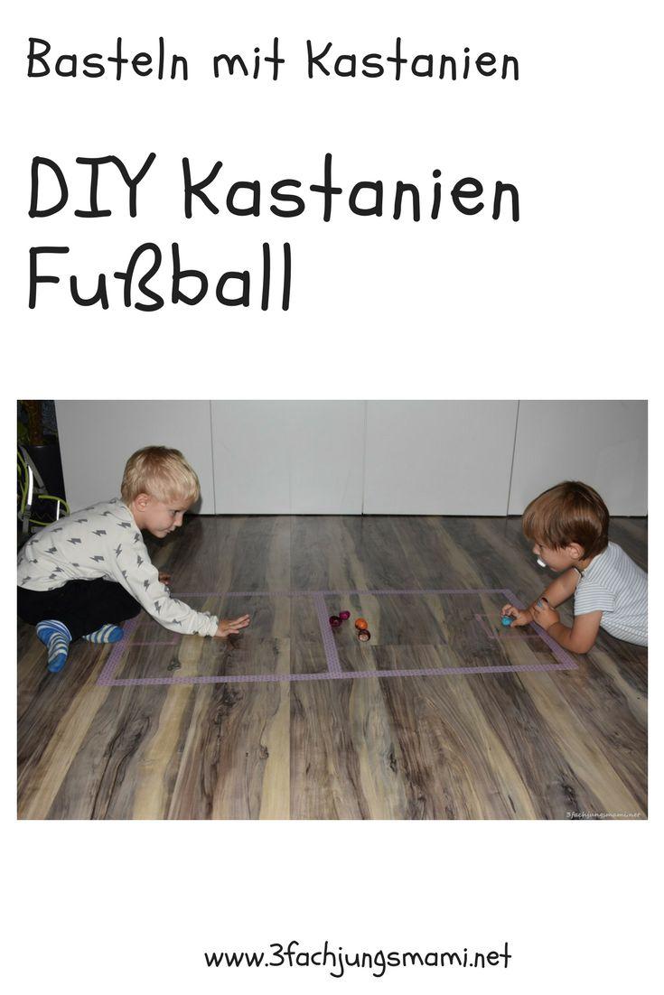 So kannst du in 5 Minuten ein Spiel aus Kastanien basteln #Kastanien #DIY
