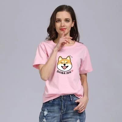 Women Summer Tshirt Harajuku Style Casual Tops Shiba Inu Print Anime Teavengifts