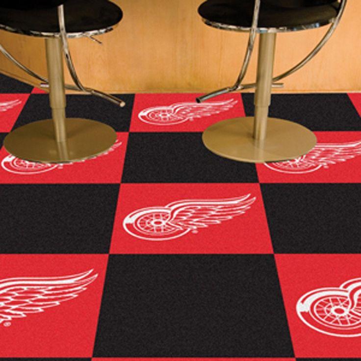 Detroit Red Wings Black/Red Team Proud Carpet Tiles