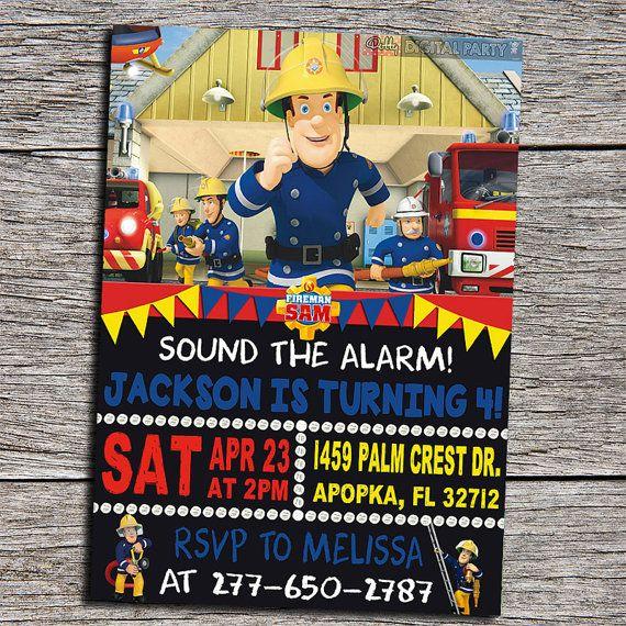 Fireman Sam Birthday Party Invitation  by DottyDigitalParty