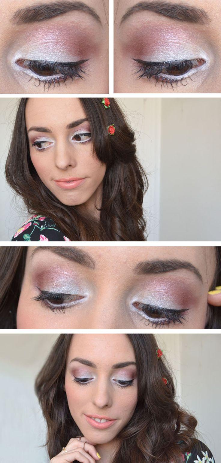 Make-up de Printemps #blue #purple #peach #spring #maquillage