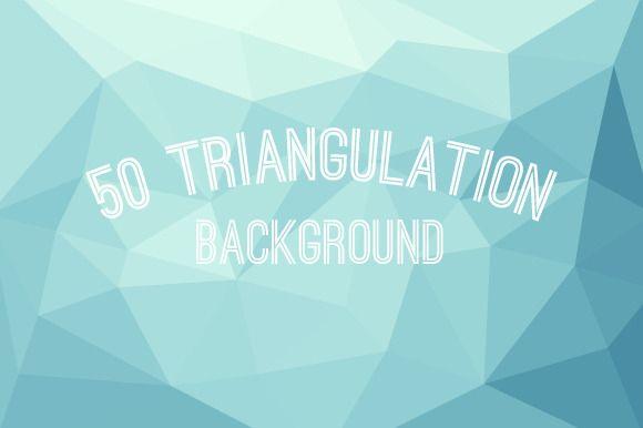 50 Triangulation Background by Garam Dapur on Creative Market