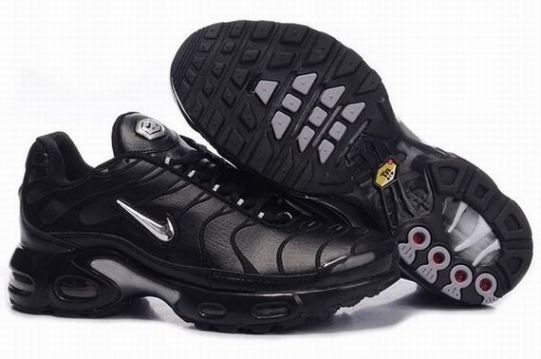 new style 97243 7b929 ... Nike Air Max TN Mens Black Silver Grey Red ...
