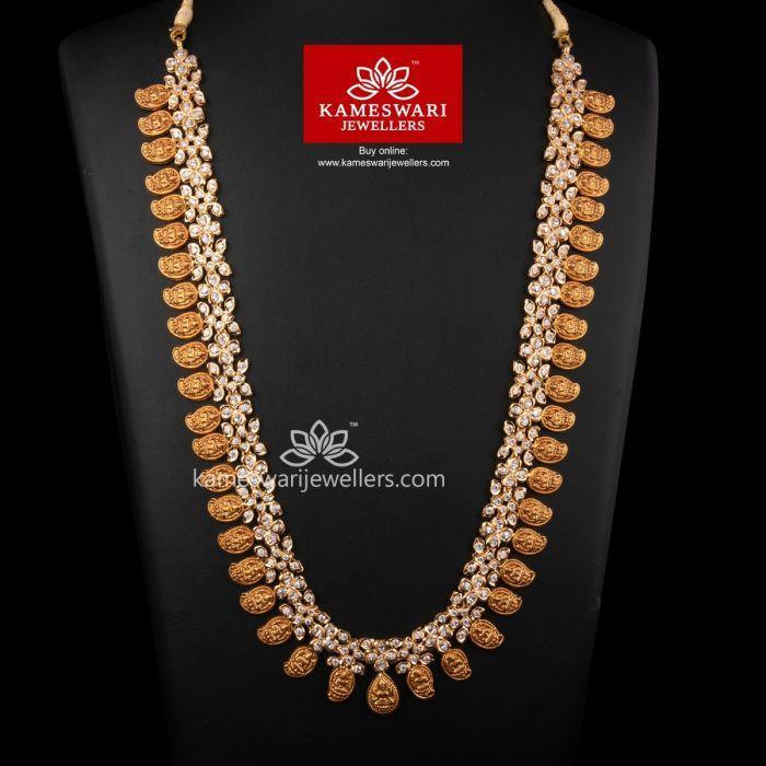 Buy Necklaces Online Lakshmi Mango Mala In Czs From Kameswari Jewellers Mango Mala Necklace Online Mango Mala Jewellery