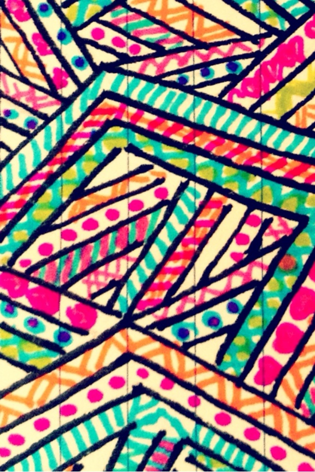 hand drawn aztec prints