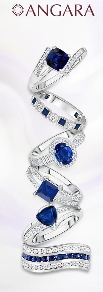 """""""Ring up the new year!""""  Select from the very best Natural Sapphire jewelry and start your new year with luck, love and happiness!"""