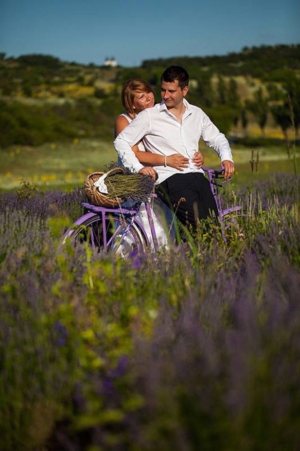 Wow, is that ever romantic. The lavender fields of Tihany, Hungary (wedding photo- congratulations guys, by the way!)