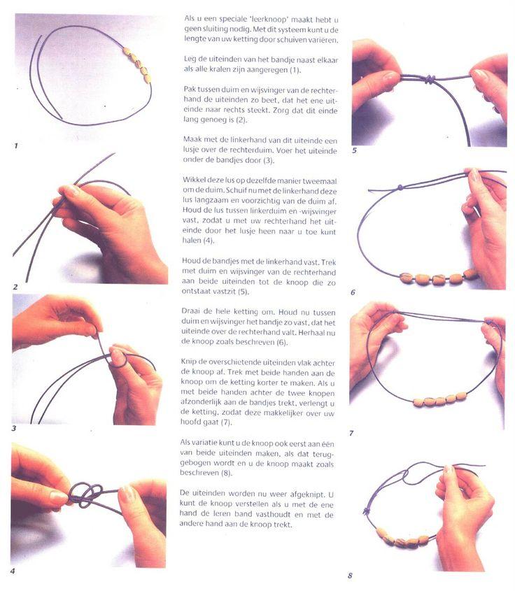 verschuifbare knoop maken
