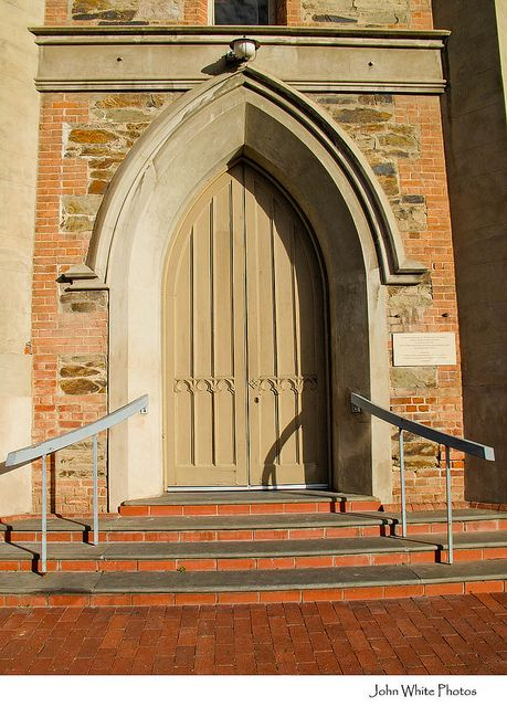Church door at Scots church North Terrace Adelaide city South Australia by john white photos, via Flickr • Adelaide's chuches