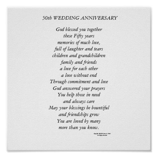 50th Wedding Anniversary Poems   50th wedding anniversary poem: