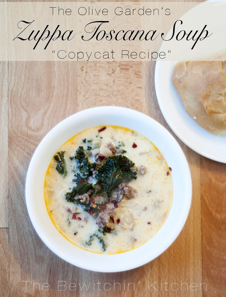 Check Out Zuppa Toscana Olive Garden Copycat It 39 S So Easy To Make Gardens Olives And Zuppa