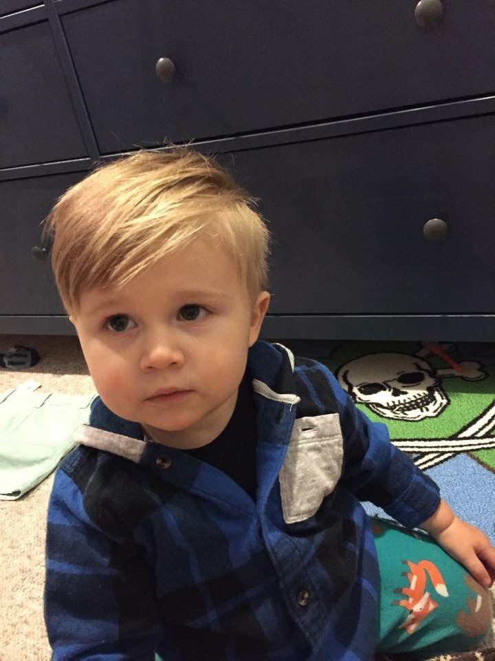 Cute baby boy haircut