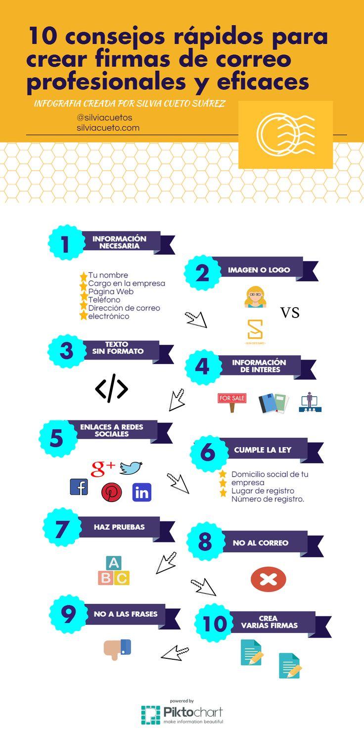 #Infografia con 10 consejos rápidos para hacer una firma de correo profesional y eficaz vía @cuetosuarez @silviacuetos