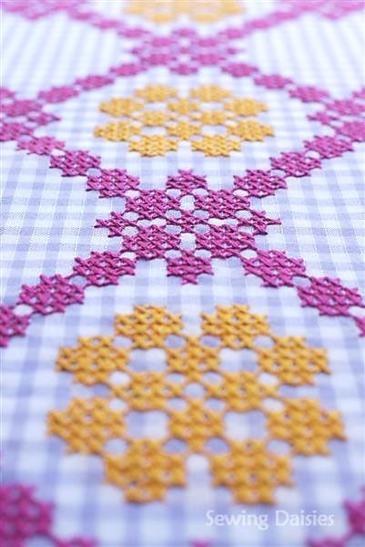 dig out some gingham and stitch something on it.: