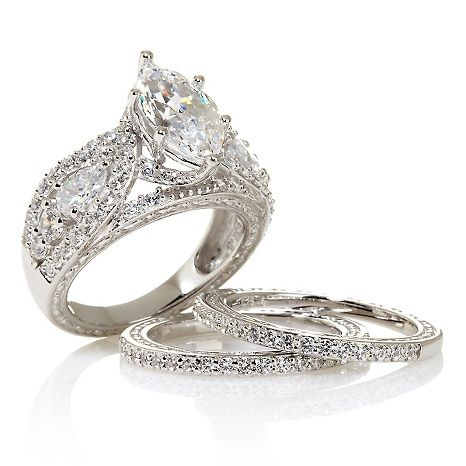 Victoria Wieck Absolute 101-Facet Marquise Ring Set