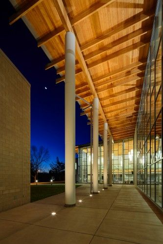 university usa architecture archdaily http://www.archdaily.com/313435/madonna-university-franciscan-center-for-science-and-media-smithgroupjjr/