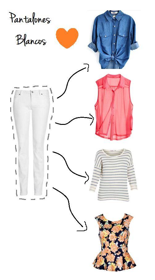 Opciones con pantalón blanco