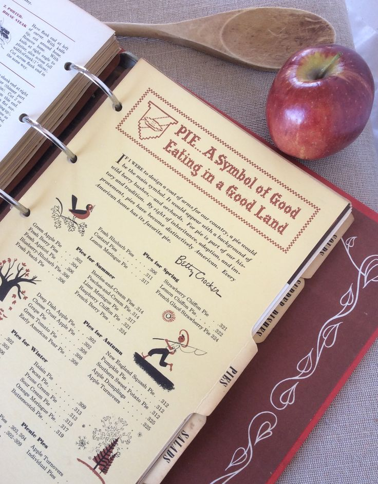 Betty Crocker 1950 first Edition cookbook.PIE... A Symbol of Good Eating in a Good Land!
