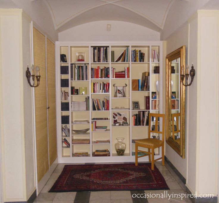 my interpretation of a billy built-in bookcase...