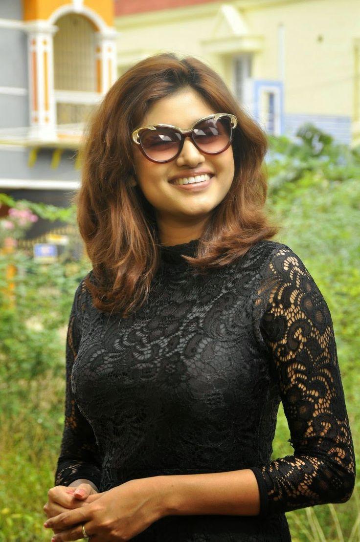 Actress Oviya Latest Cute Hot Beautiful Black Mini Skirt Dress Spicy Thighs Show Photos Gallery