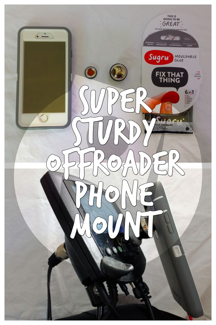 Wheelchair Phone Mount: Splodge together a phone mount made for a car dashboard and some Sugru and get a rock solid, detachable and posable smartphone mount.