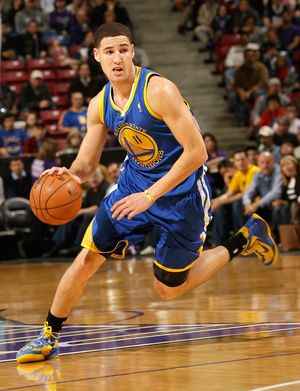 Klay Thompson in action