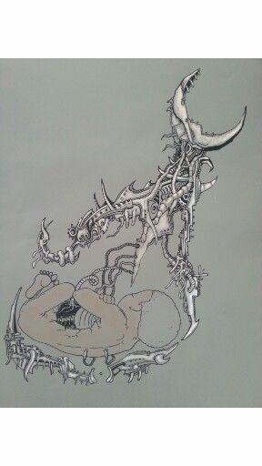 Tattoo tabalkon sanat evi resim çizim paint digital art pen