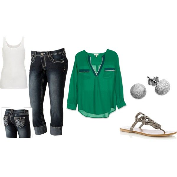 If I could., created by elisha-petty on PolyvoreSimple Outfit, Green Shirts, Green Tops, Future Wardrobes, Clothes'S Clothing, Totally Wear, Dreams Closets