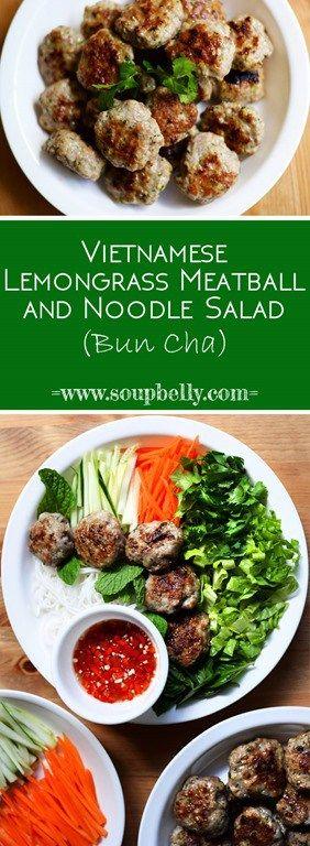 bunchapin lemongrass meatballs salad vermicelli