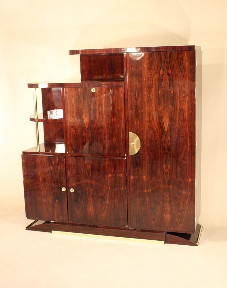 biblioth que secr taire art d co vers 1930 en palissandre de rio galerie jpj drouin proantic. Black Bedroom Furniture Sets. Home Design Ideas