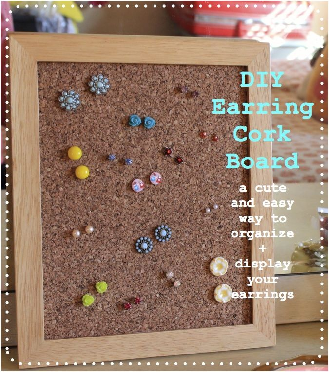 DIY earring cork board <3