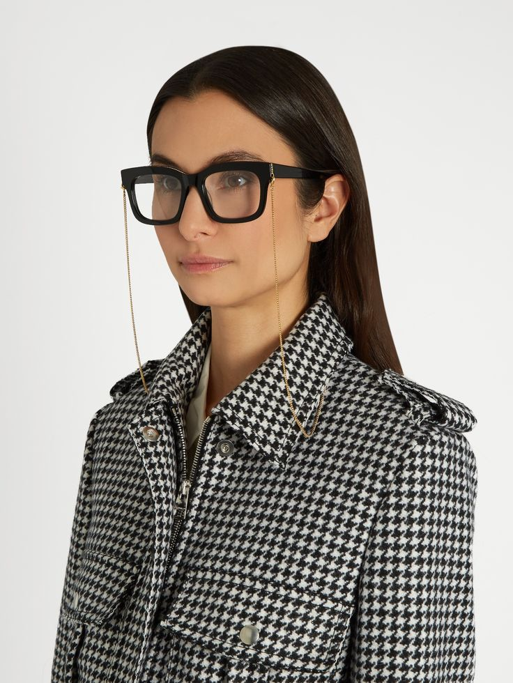 Click here to buy Stella McCartney Falabella D-frame acetate glasses at MATCHESFASHION.COM