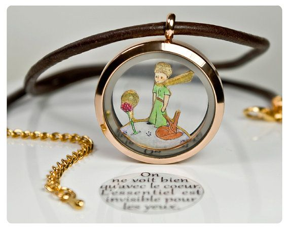 SALE Little Prince Pendant. Le Petit Prince. Jewellery Memory Locket  Floating Charms. Handmade Jewelry. Hand Painted. Miniature Charm Quote on Etsy, $44.00 AUD