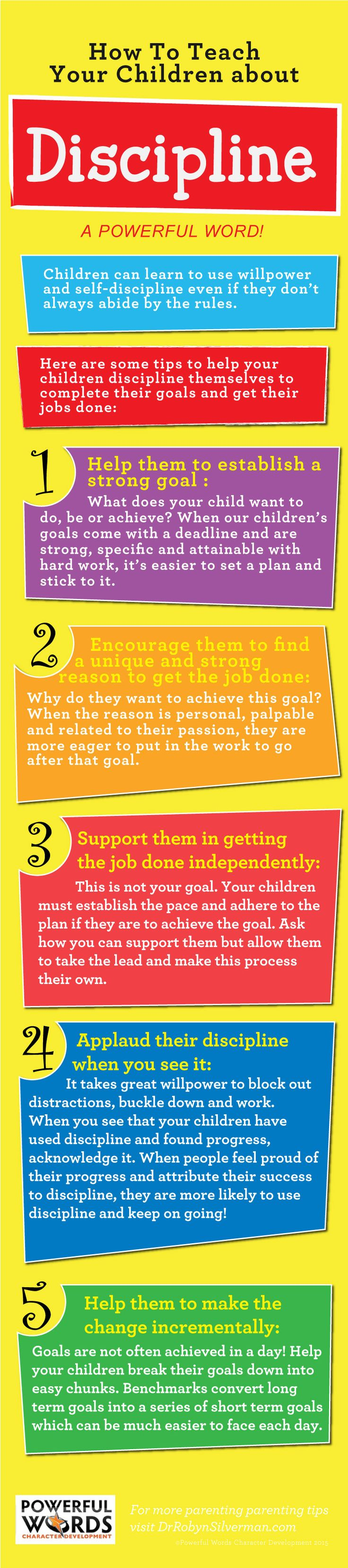 Discipline | Infographic | Parenting | Powerful Words for Child Development http://www.kidsmartialartcenters.com/school/index.php?location=lithia-fl&utm_content=buffer641ec&utm_medium=social&utm_source=pinterest.com&utm_campaign=buffer