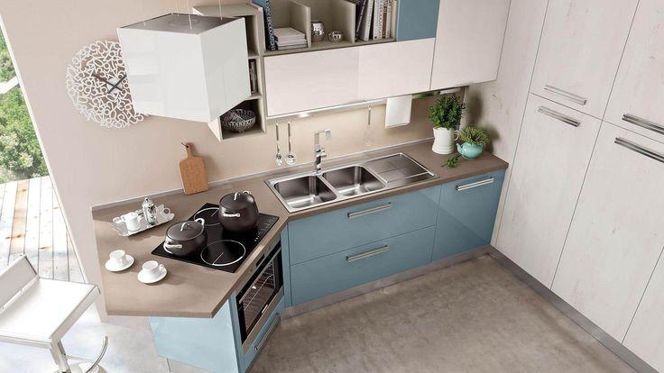 Arredamento per cucine di piccole dimensioni. Arredo cucine piccole moderne e componibili, ad angolo o con penisola.