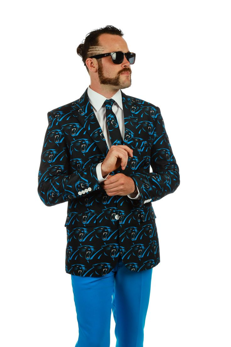 """We wanted to call this blazer """"Sweet Caroline,"""" instead of """"The Carolina PanthersSuit Jacket,"""" but our trademark lawyer was not having it. Actually, we know th"""