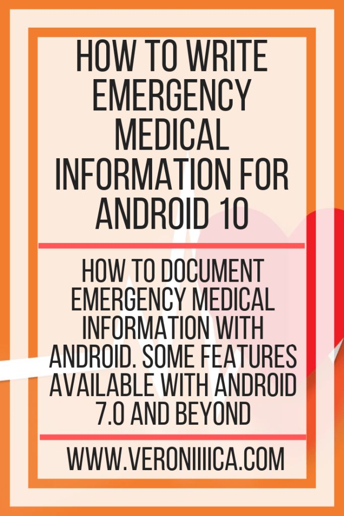 How To Write Emergency Medical Information For Android 10. How to document emergency medical information with Android, some features available with An…