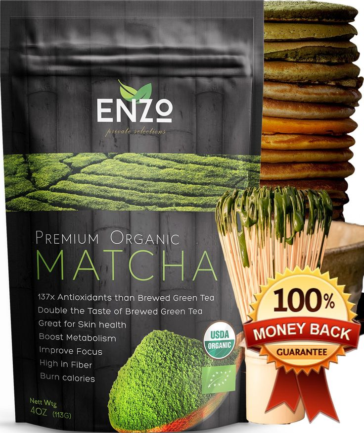 Matcha Green Tea Powder USDA Certified Organic Maccha Premium Culinary / Classic Ceremonial Grade Teas from Zen Buddhist to You, Great for Drinking with or without whisk as hot tea, latte and baking