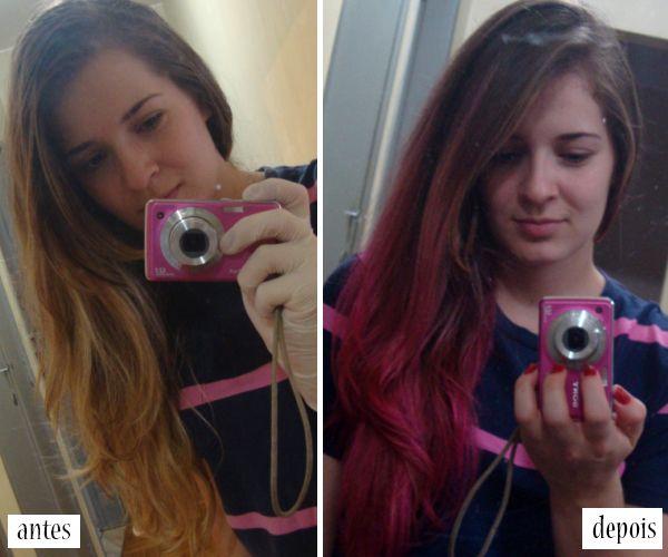 Antes e depois: cabelo colorido + como pintar o cabelo com anilina - Blog Só Para Meninas: moda, beleza, decoração e outras utilidades ;)