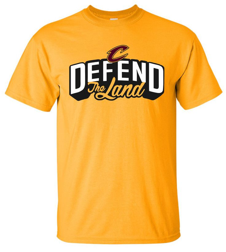 Cleveland Cavaliers Defend The Land Cavs Gold Playoff T-Shirt