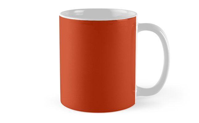 'Burnt Sienna' Mug by Moonshine Paradise #redbubble #pantone #mugs #home #decor
