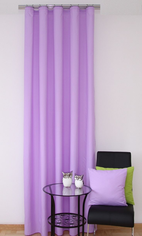 Světlo fialový hotový interiérový závěs