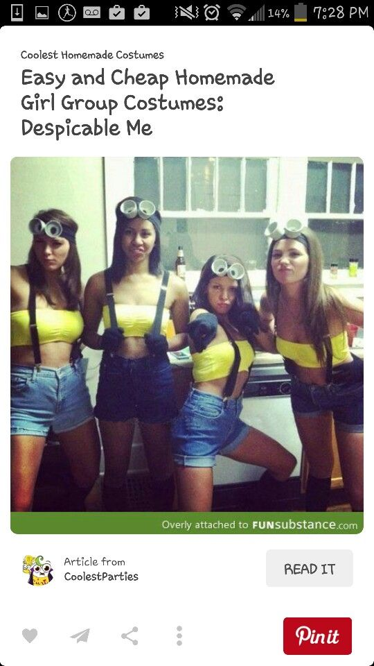 9 best halloween images on pinterest carnivals halloween ideas easy and cheap homemade girl group costumes despicable me xt halloween solutioingenieria Image collections