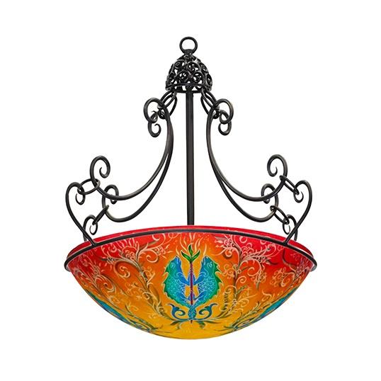 80 best ulla darni images on pinterest chandelier chandelier ulla darni reverse painted glass shade aloadofball Images