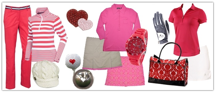 Pink & Red Ladies Golf Style for Valentine's Day | Golf4Her