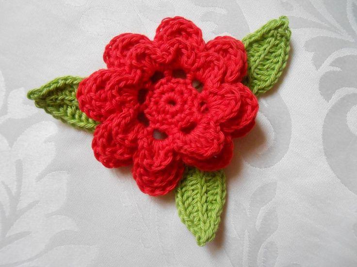 22 best Blumen gehäkelt images on Pinterest | Blumen häkeln ...