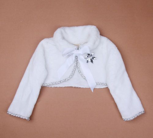 BURNOUT-SHRUG-Bolero-Crop-Ruffle-Girls-Elsa-Shrug-Wrap-Berber-Fleece-2-7Year