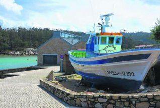 El espacio exterior del Museo de la Pesca y la Salazón de Punta Moreiras.  // Muñiz